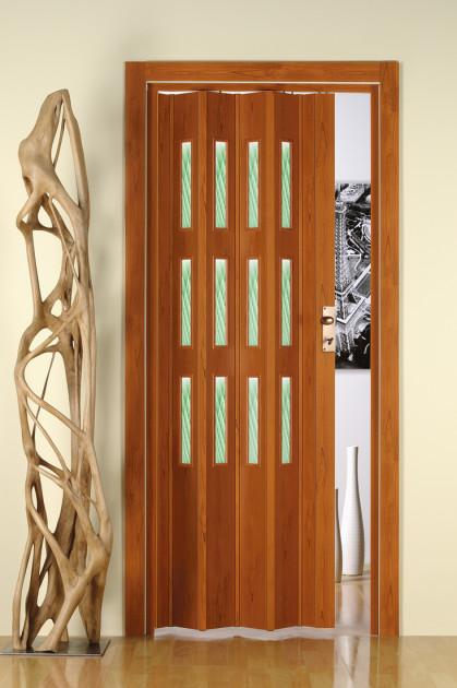 PVC akordeon camlı kapı modeli