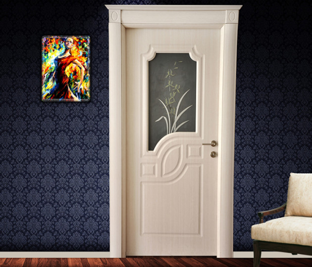 Camlı PVC Membran kapı modeli