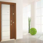 PVC Membran Çift renkli kapı modeli