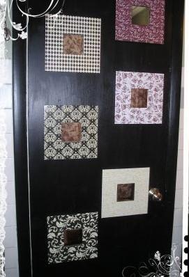 Basit malzemeler ile kapı dekoru
