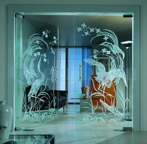 Çift kanatlı maşalı cam kapı