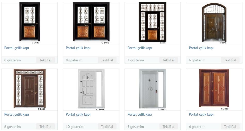 Portal çelik kapı modelleri