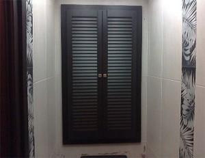 Yatay panjurlu kapı