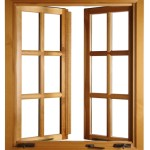 Ahşap pencere modeli