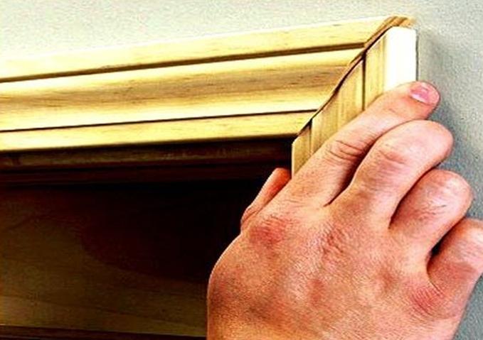 Odalar arası kapı pervazlarının montajı