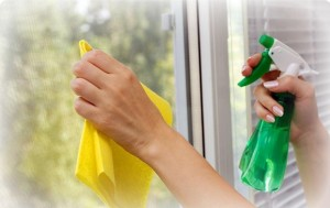 PVC pencere temizliği