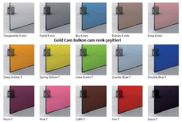 Cam balkon renkleri