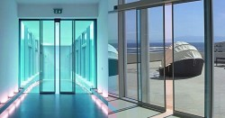 Camlı Teleskopik kapı modeli