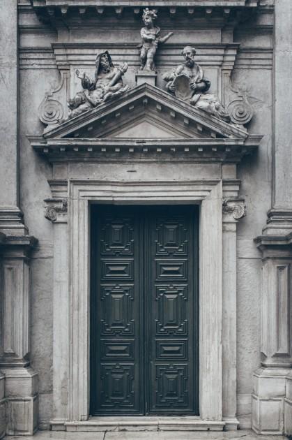 Ferrara, İtalya. Eski şehir - UNESCO Dünya Mirası.