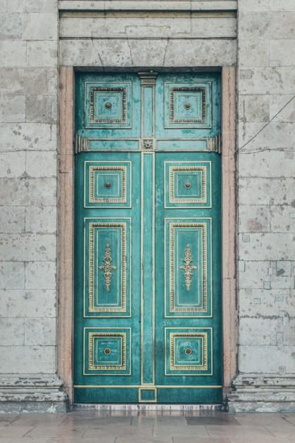 Estergon. Macaristan'ın en büyük Bazilikası'nın Kapı.