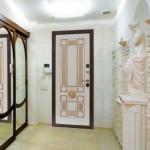 Beyaz 3d çelik kapı modeli