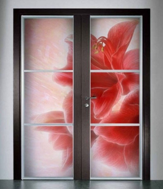 Vitray renkli kapı